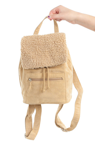 Vintage Y2K Vegan Suede Mini Backpack