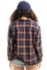 Vintage 90's Fleece-Lined Flannel - XS