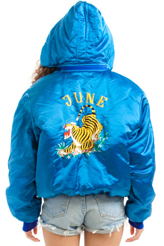 Vintage 80's June Blue Bomber - One Size Fits Many