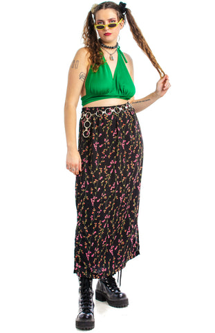 Vintage 90's Rosebud Maxi Dress - XL