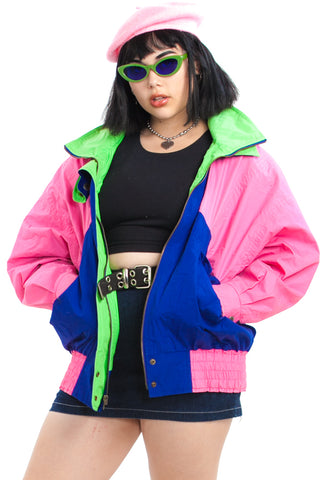 Vintage 80's LDN Fog Colorblock Windbreaker - One Size Fits Many