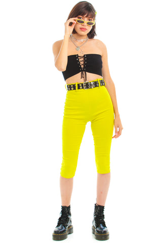 Vintage 90's Key Lime Retro Pants - XS