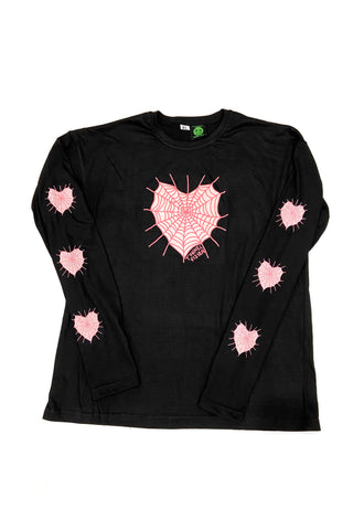 Heart Web Long-Sleever