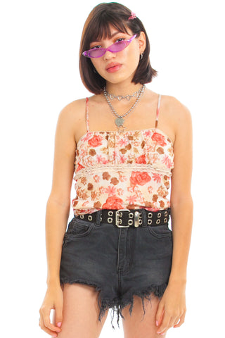 Vintage 90's Country Rose Cami - XS/S/M