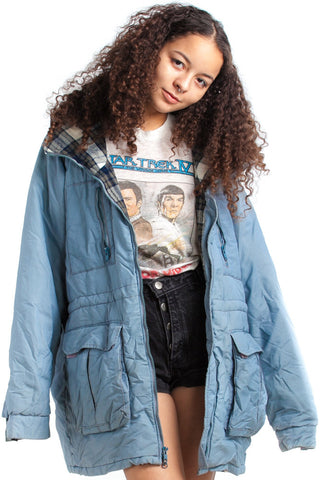 Vintage 80's Stranger Things Flannel-Lined Anorak - One Size Fits Many