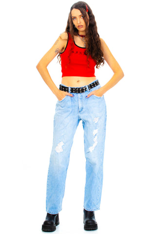 Vintage 90's Riders Distressed Jeans - L