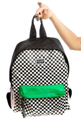 Vintage Y2K Betsey Johnson Checker Print Backpack