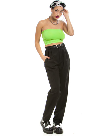 Vintage 90's Fancy Pants Pleated Trousers - S