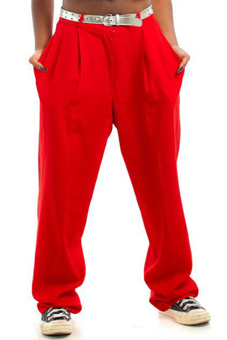 Vintage 90's Red Hot Trousers - L