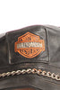 Vintage 80's Leather Harley Biker Cap