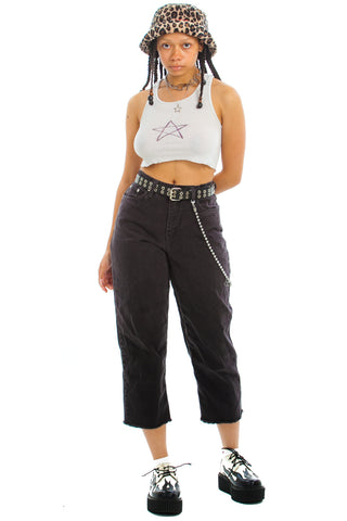 Vintage 90's Lofty Raw Hem Mom Jeans - S/M