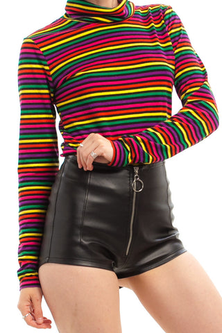 Vintage 80's Rainbow Twangers Striped Turtleneck - XS/M