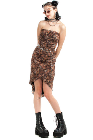 Vintage Y2K Bronze Fairy Midi Dress - XS/S
