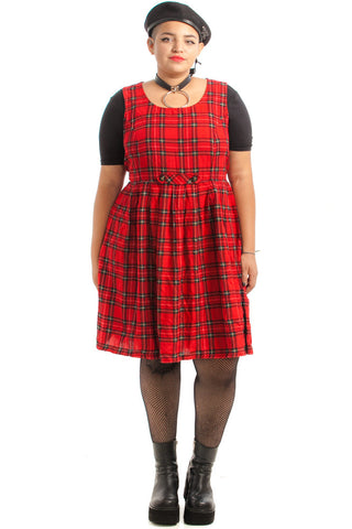 Vintage Renewed 90's Totally Clueless Plaid Jumper Dress - L/XL/2X