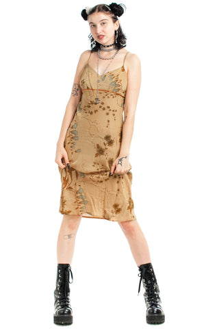 Vintage 90's Golden Hour Midi Dress   Xs/S by Tunnel Vision