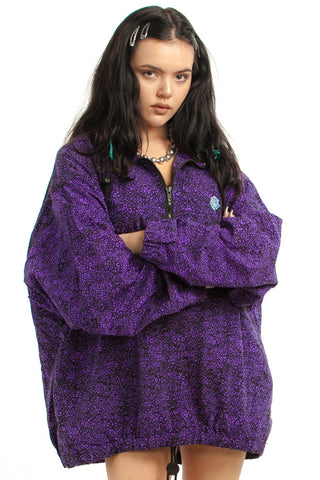 Vintage 90's Gotcha Purple Pullover Breaker - One Size Fits Many