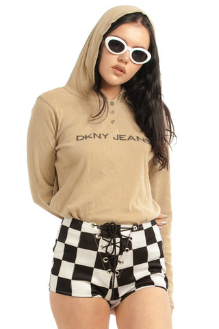 Not-Quite-Vintage Y2K DKNY Hooded Top - S/M