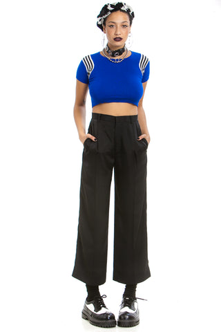 Vintage 90's Black Pleated Trousers - S