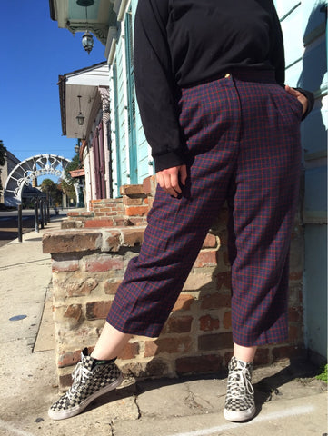 NEW ORLEANS Vintage 80's Class Act Plaid Trousers - 2X