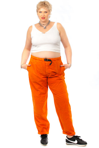 Vintage Y2K Unionbay Essential Orange Parachute Pants  2X