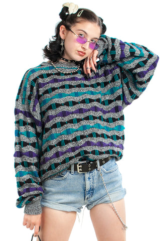 Vintage 80's Prime Time Sweater - One Size Fits Many