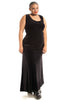 Vintage 90's Witchy Woman Black Velvet Maxi Dress - One Size Fits Many