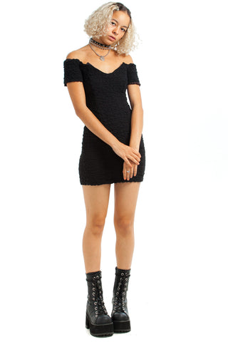 Vintage 80's Crepe Mini Dress - XS/S