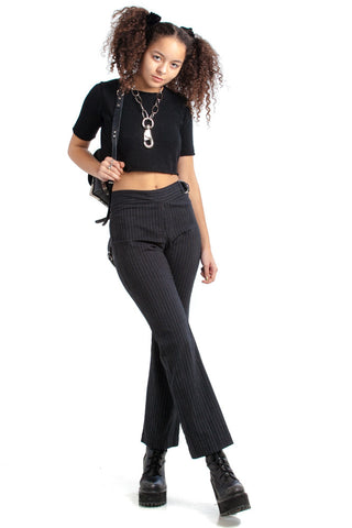 Vintage 90's Betsy & Buster Pinstripe Flares - XS