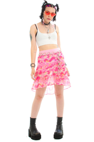 Vintage 90's Butterfly Ruffle Skirt - XS/S