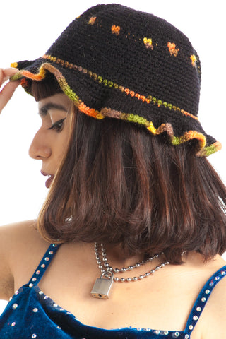 Vintage 90's Crocheted Dotty Cap