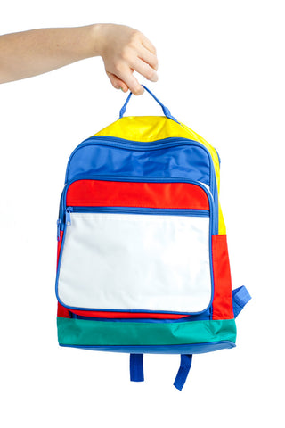 Vintage 90's Primary Colorblock Backpack