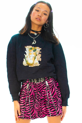 Vintage Y2K Kitty Sweater - S