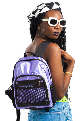 Vintage Y2K Eastsport Iridescent Lavender Mini Backpack