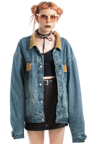 Vintage 90's Denim & Cord Dream Jacket - One Size Fits Many