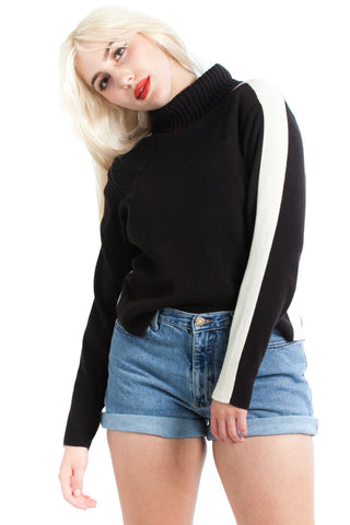 Vintage 90's Two-Tone Turtleneck - One Size Fits Many