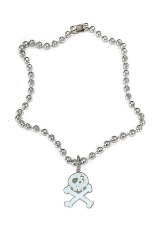 Skelly Enamel Ball Chain Necklace