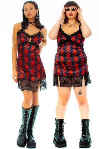 Josie Red Skelly Mini Slip Dress