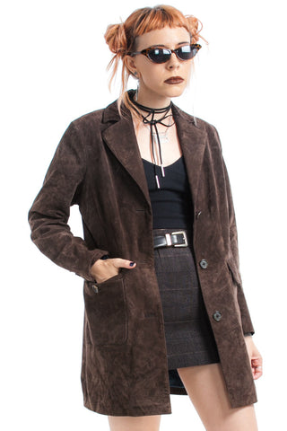 Vintage 90's The Suede of It All Brown Suede Jacket - XS/S