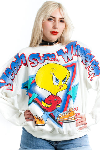 Vintage 1997 Sass-hole Tweety Sweatshirt - One Size Fits Many