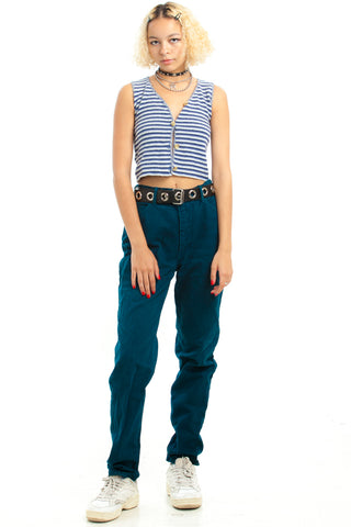 Vintage 90's Teal Mom Jeans - XS/S