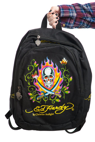 Vintage Y2K Ed Hardy Backpack