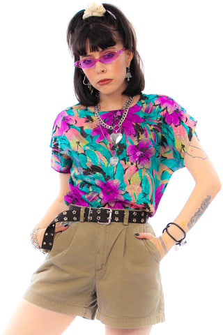 Vintage 80's Golden Girl Top - XS/S/M