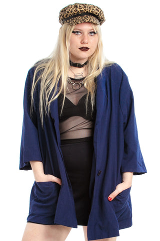 Vintage 80's I Mean Business! Boxy Blazer - XL/2X/3X/4X