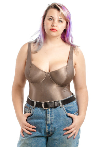 Vintage 80s The Bronze Leotard - L/XL