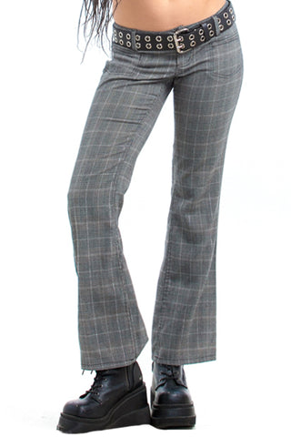 Vintage Y2K Two-Tone Plaid Flares - S