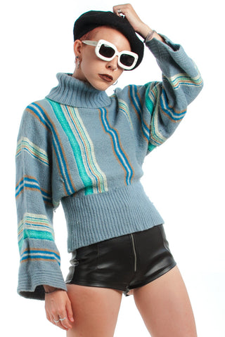 Vintage 70's Architectural Striped Sweater - XS/S/M