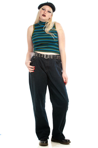 Vintage 90's Dark Rinse Easy Fit Mom Jeans - XL/2X