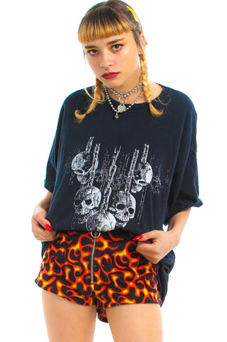 Vintage Y2K Skullz & Chainz & Like...Metal...Stuff Tee - One Size Fits Many