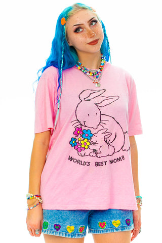 Vintage 80's Mama Bunny T-Shirt - L