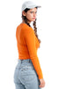 Vintage Renewed 90s Orange Dreamsicle Top - One Size Fits Many